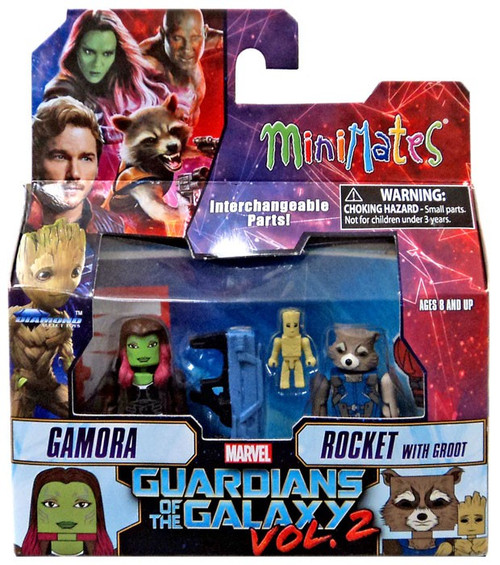 Marvel Guardians of the Galaxy 2 Minimates Series 71 Gamora & Rocket with Groot 2-Inch Minifigure 2-Pack