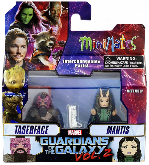 Marvel Guardians of the Galaxy 2 Minimates Series 71 Taserface & Mantis 2-Inch Minifigure 2-Pack