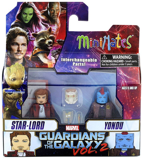 Marvel Guardians of the Galaxy 2 Minimates Series 71 Star-Lord & Yondu 2-Inch Minifigure 2-Pack