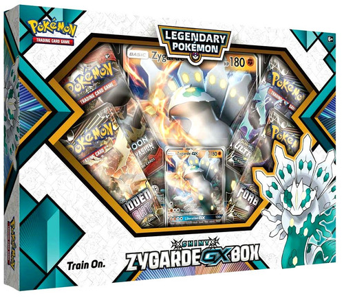 Pokemon Trading Card Game Sun & Moon Shiny Zygarde-GX Legendary Box [4 Booster Packs, Promo Card & Oversize Card]