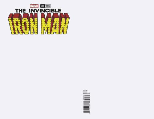 Marvel Comics The Invincible Iron Man #600 Comic Book [Blank Cover]