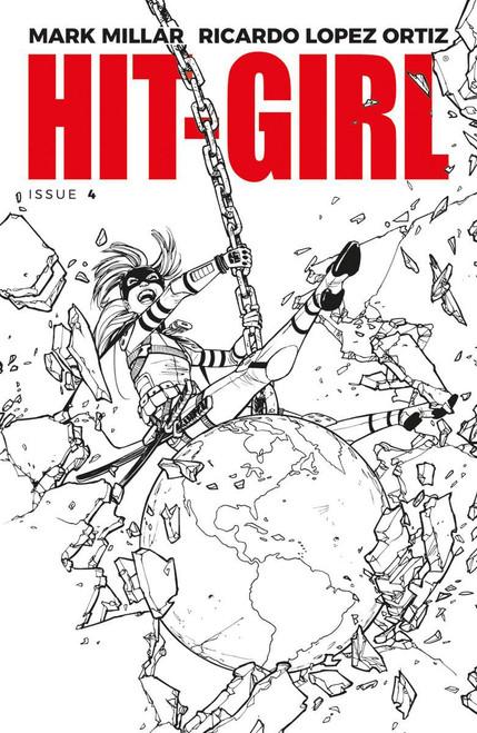 Image Comics Hit-Girl #4 Comic Book [Cover B Black & White Reeder]