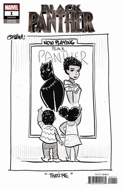 Marvel Comics Black Panther #1 Comic Book [Beland Black & White Variant]