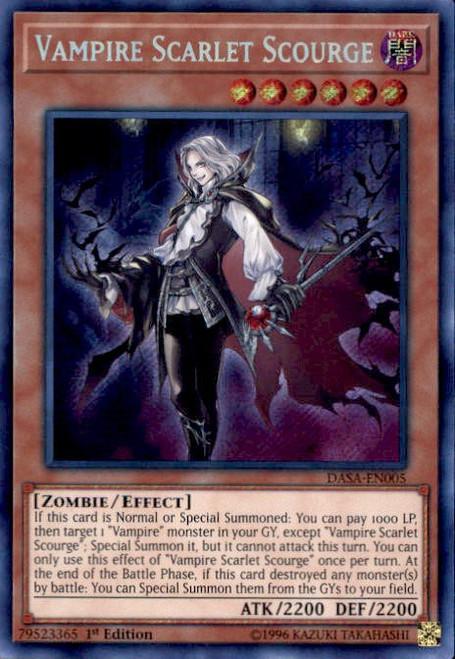 YuGiOh Dark Saviors Secret Rare Vampire Scarlet Scourge DASA-EN005