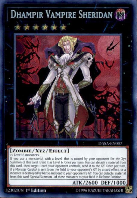 YuGiOh Dark Saviors Secret Rare Dhampir Vampire Sheridan DASA-EN007