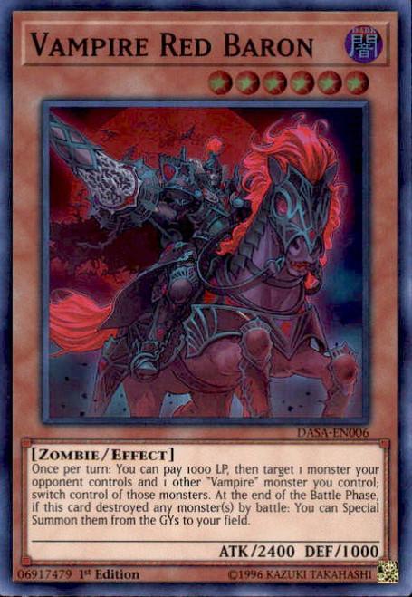 YuGiOh Dark Saviors Super Rare Vampire Red Baron DASA-EN006
