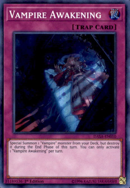 YuGiOh Dark Saviors Super Rare Vampire Awakening DASA-EN010