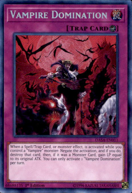 YuGiOh Dark Saviors Secret Rare Vampire Domination DASA-EN011