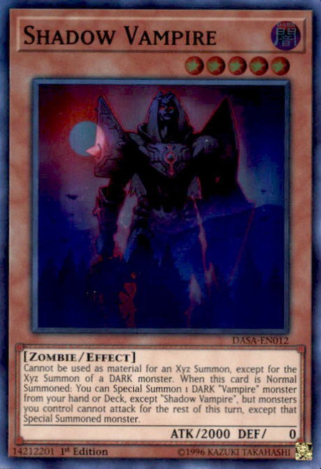 YuGiOh Dark Saviors Super Rare Shadow Vampire DASA-EN012