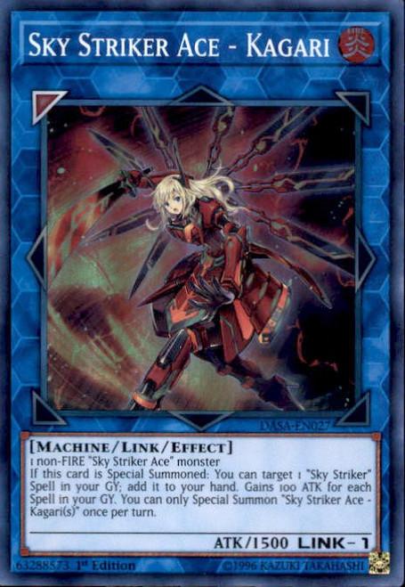 YuGiOh Dark Saviors Super Rare Sky Striker Ace - Kagari DASA-EN027
