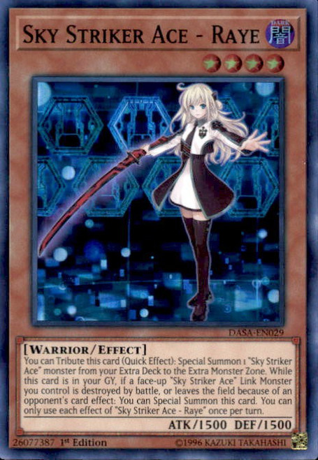 YuGiOh Dark Saviors Super Rare Sky Striker Ace - Raye DASA-EN029