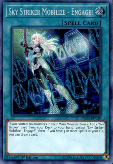 YuGiOh Dark Saviors Secret Rare Sky Striker Mobilize - Engage! DASA-EN030