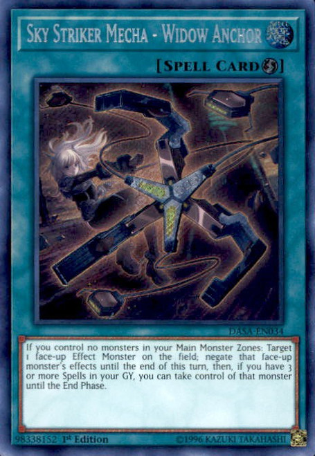 YuGiOh Dark Saviors Secret Rare Sky Striker Mecha - Widow Anchor DASA-EN034
