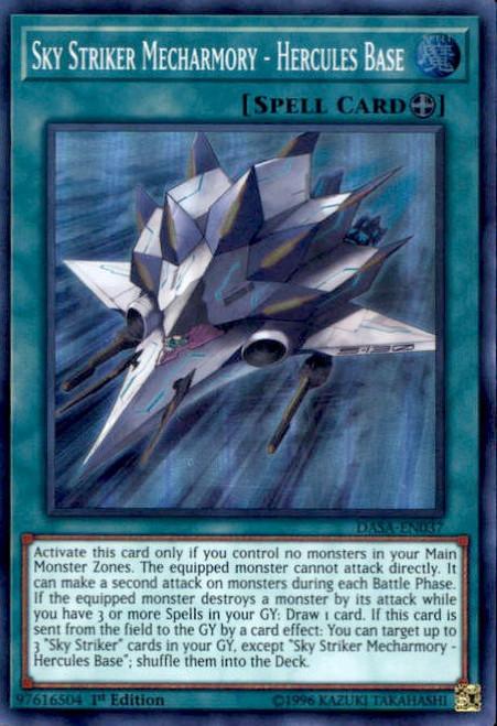 YuGiOh Dark Saviors Super Rare Sky Striker Mecharmory - Hercules Base DASA-EN037