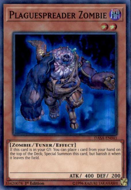 YuGiOh Dark Saviors Super Rare Plaguespreader Zombie DASA-EN041