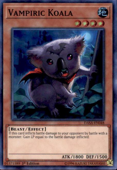 YuGiOh Dark Saviors Super Rare Vampiric Koala DASA-EN048