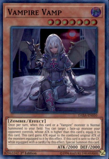 YuGiOh Dark Saviors Super Rare Vampire Vamp DASA-EN050