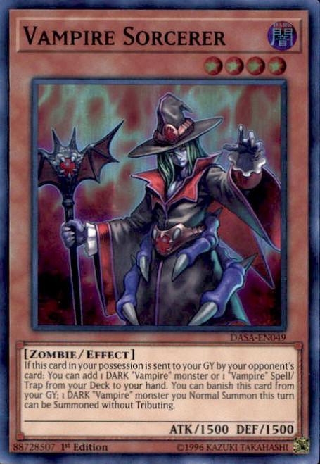 YuGiOh Dark Saviors Super Rare Vampire Sorcerer DASA-EN049
