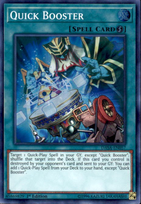 YuGiOh Dark Saviors Super Rare Quick Booster DASA-EN057