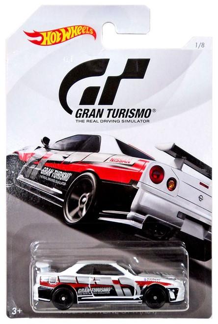 Hot Wheels Gran Turismo Nissan Skyline GT-R (R34) Diecast Car #1/8