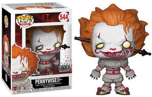 Funko IT Movie (2017) POP! Movies Pennywise with Wrought Iron Exclusive Vinyl Figure #544 [Damaged Package]