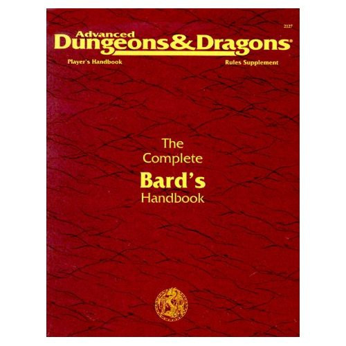 Dungeons & Dragons D&D 2nd Edition Vintage Softcover Rules Supplement The Complete Bard's Handbook [Used]