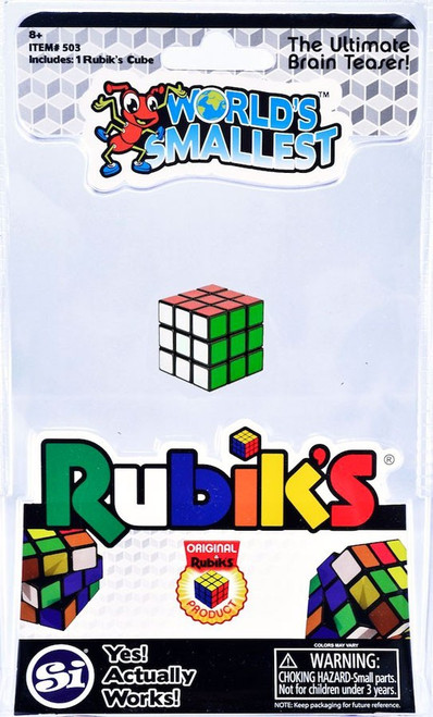 World's Smallest Rubik's Cube Puzzle Toy