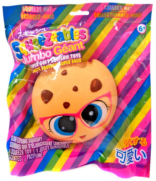 Squeezeables Jumbo Chocolate Chip Cookie 5-Inch Squeeze Toy