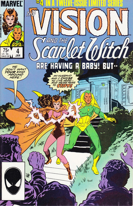 Marvel Comics Vol. 2 The Vision and The Scarlet Witch #4 Twelve Issue Limited Series Comic Book