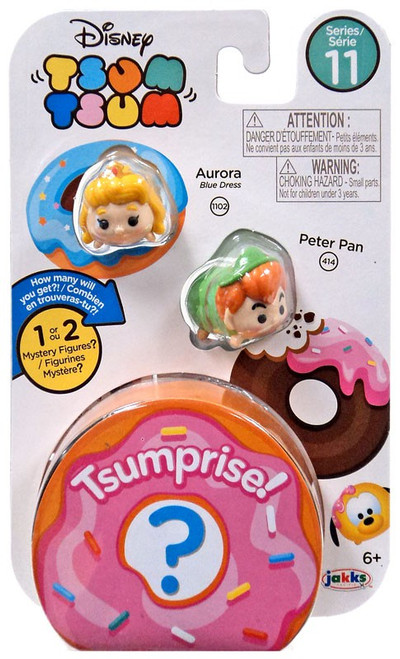 Disney Tsum Tsum Series 11 Aurora & Peter Pan 1-Inch Minifigure 3-Pack