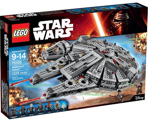 LEGO Star Wars The Force Awakens Millennium Falcon Set #75105 [Damaged Package]