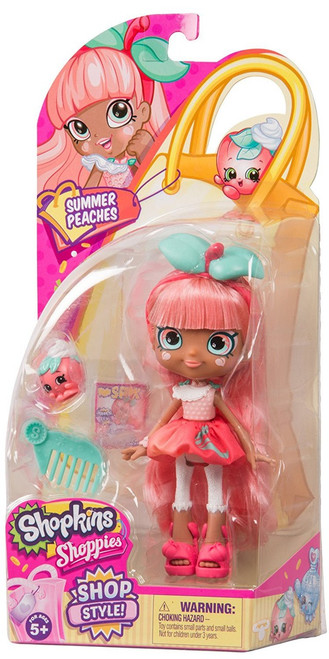 Shopkins Shoppies Shop Style! Summer Peaches Doll Figure