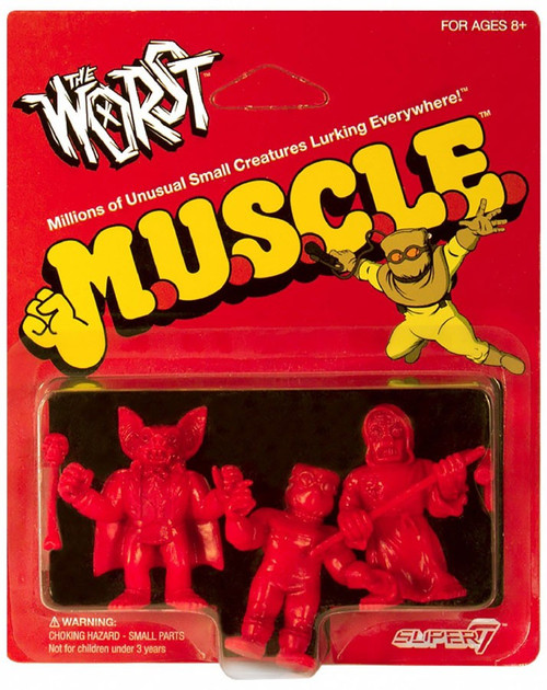 M.U.S.C.L.E. The Worst Red Pack B - Batula, Gas Phantom, Robot Reaper 1.75-Inch 3-Pack