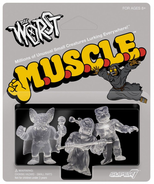 M.U.S.C.L.E. The Worst Clear Pack B - Batula, Gas Phantom, and Robot Reaper 1.75-Inch 3-Pack