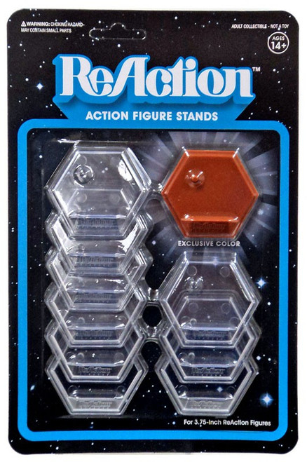 ReAction Co-Pilot Action Figure Stand 10-Pack [Brown]