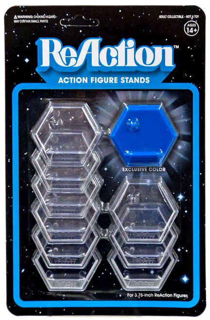 ReAction Harvest Action Figure Stand 10-Pack [Blue]