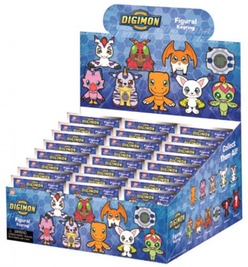 3D Figural Keyring Digimon Series 1 Mystery Box [24 Packs]