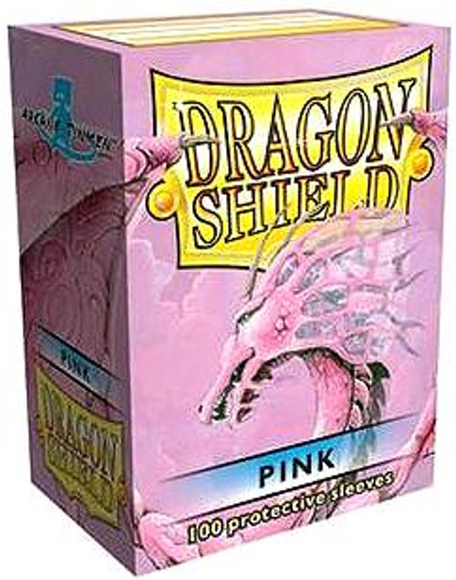 Card Supplies Dragon Shield Pink Standard Card Sleeves [100 Count]