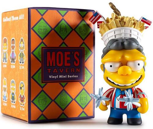 The Simpsons Vinyl Mini Figure Moe's Tavern 3-Inch Mystery Pack [1 RANDOM Figure]