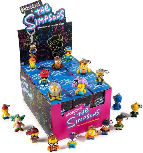 The Simpsons Vinyl Keychain CRAP-TACULAR! 3-Inch Mystery Box [24 Packs]