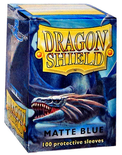 Card Supplies Dragon Shield Matte Blue Standard Card Sleeves [100 Count]