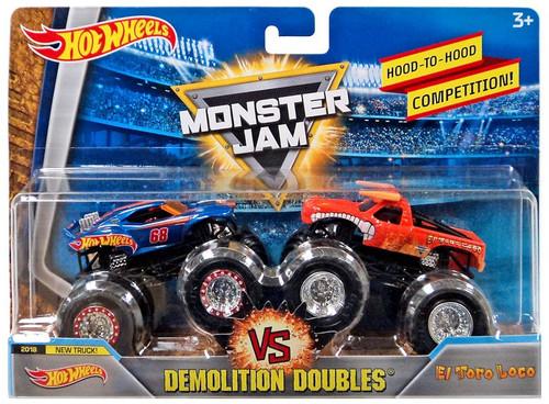 Monster Jam Demolition Doubles Hot Wheels & El Toro Loco Diecast Car 2-Pack [Version 1]