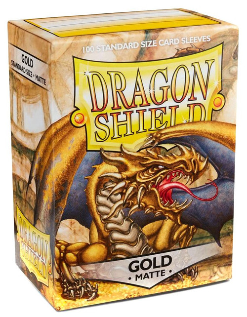 Card Supplies Dragon Shield Matte Gold Standard Card Sleeves [100 Count]