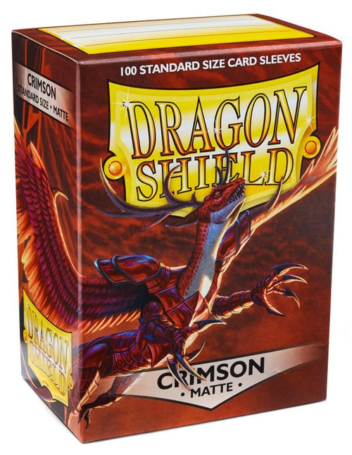 Card Supplies Dragon Shield Matte Crimson Standard Card Sleeves [100 Count]
