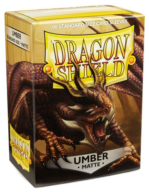 Card Supplies Dragon Shield Matte Umber Standard Card Sleeves [100 Count]