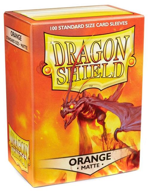 Card Supplies Dragon Shield Matte Orange Standard Card Sleeves [100 Count]