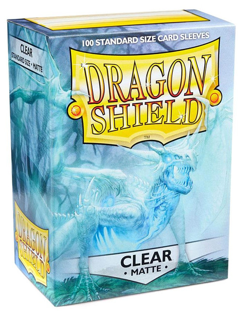 Card Supplies Dragon Shield Matte Clear Standard Card Sleeves [100 Count]