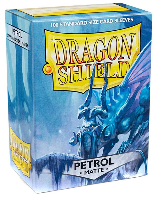 Card Supplies Dragon Shield Matte Petrol Standard Card Sleeves [100 Count]