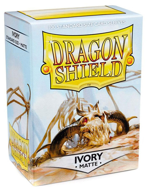 Card Supplies Dragon Shield Matte Ivory Standard Card Sleeves [100 Count]