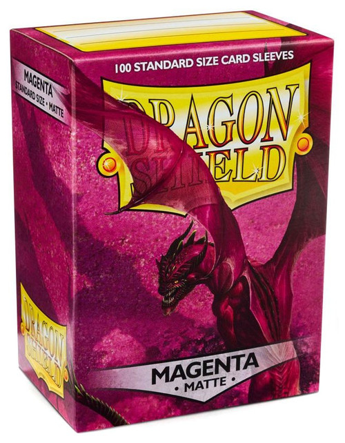 Card Supplies Dragon Shield Matte Magenta Standard Card Sleeves [100 Count]